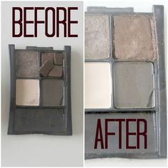 How To: Fix Broken Shadows--this works for powders, blushes, bronzers, highlighters too! Save $$!