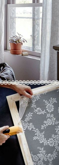 Window screens made from lace
