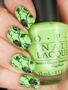 OPI Gargantuan Green Grape Matte (Plus Stamping)