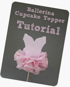 Cupcake topper tutorial ballerina theme