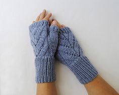 Fingerless Gloves Leaves designed by Valentina Georgieva (Free pattern.)