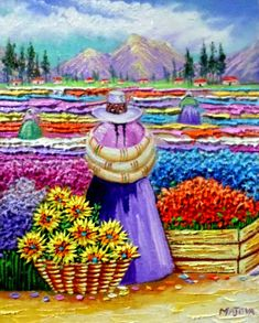 Mexican Paintings, Peruvian Art, Puzzle Art, Thread Painting, Art Pages, Naive Art, Mexican Folk Art, Beautiful Paintings, Indian Art