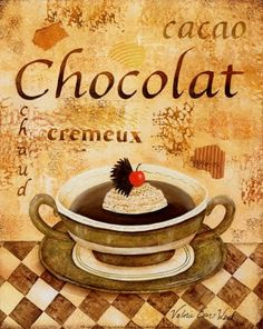 Printable image for decoupage and transfer purposes - chocolate