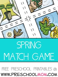 This is a cute an colorful spring  memory match laminate for  durability and let children enjoy  matching these thematic pictures.