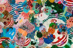 "Detail of Spring Poppy Fields No.9, 2012"" oil on linen - Zhang Huan"