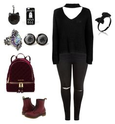 """Autumn"" by naomi-aalbregtse ❤ liked on Polyvore featuring New Look, Boohoo, Dr. Martens, MICHAEL Michael Kors and ASOS"