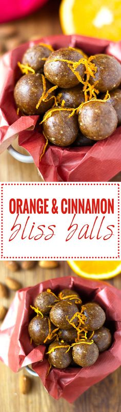 These orange and cinnamon bliss balls are a burst of christmas in your mouth! No bake, gluten free, dairy free and vegan!