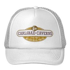 Carlsbad Caverns National Park Hat - This New Mexico Park has 117 caves, the longest of which is over 120 miles long. The Big Room is almost 4,000 feet long, and the caves are home to over 400,000 Mexican Free-tailed BatsCapitol.http://www.zazzle.com/cdandc #nationalparks #carlsbadcaverns #newmexico #vacation #nationalpark #gifts #souvenir #hat
