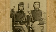 William Henry Taylor (left) and Stephen Stewart (right), members of the 11th Virginia Infantry, American Civil War  *Fascinating when I find this photo around the internet. William Taylor is my cousin and the only KNOWN Confederate ancestor I have.