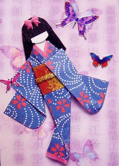 ATC860 - Butterfly lady | Traded to Lisa - :)). ATC with han… | Flickr
