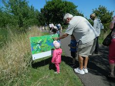 At our last spring storytime today I hosted a StoryWalk. The original StoryWalk Project was created by Anne Ferguson of Montpelier, VT. Preschool Assessment, Preschool Literacy, Early Literacy, Outdoor School, Outdoor Classroom, Fitness Trail, Library Events, Author Studies, Library Programs
