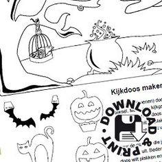 Kleurplaat Kinderfeest Fright Night Griezelfeest Pinterest