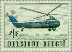 Sello: Helicopter transport (Bélgica) Mi:BE 1063,Sn:BE 505,Yt:BE 1012,Sg:BE 1610,Bel:BE 1012