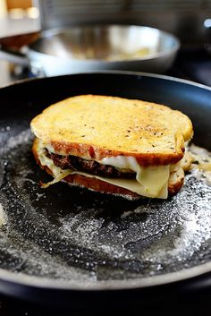 Patty Melts... easy recipe! Especially if you premade the beef patties and froze them beforehand
