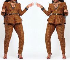Des pantalons imprimés africains et haut par CoCoCremeCouturier
