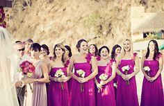 magenta & teal are lookin like my wedding colors ;)