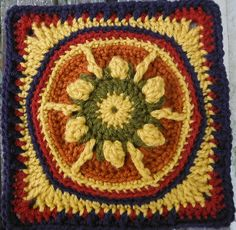 "Ravelry: Project Gallery for Tequila Sunrise 9"" Afghan Block pattern by Margaret MacInnis"