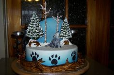 Howling wolf cake.
