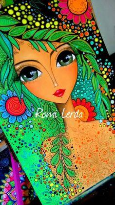 Japan Illustration, Art Pop, Whimsical Art, Art Plastique, Face Art, Portrait Art, Indian Art, Doodle Art, Painting Inspiration