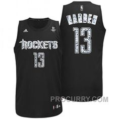 da5bb9cca James Harden Houston Rockets  13 Diamonds Swingman Dark Jersey