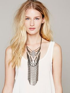 Free People Francis Diamonite Statement Necklace at Free People Clothing Boutique