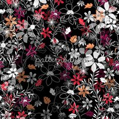 Dark Floral Tangle by Melanie Gow