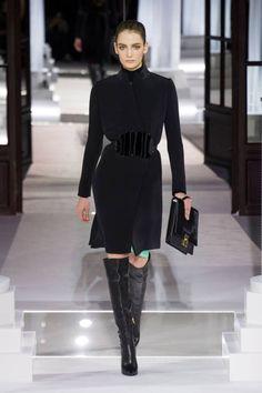 A streamlined black coat at Vionnet Fall 2013 #runway #fashionweek