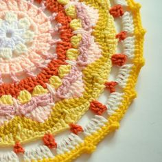 Sun mandala free #crochet pattern from Pops de Milk
