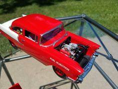 '57 Chevy Gasser Model Car, Model Kits, Chevy Models, Truck Scales, Firefighting, Drag Cars, Car Engine, Kit Cars, Plastic Models