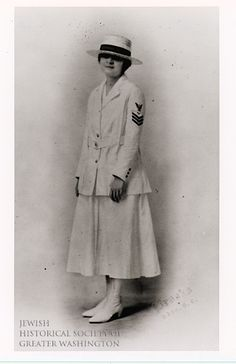 Jennie Biron enlisted in the military as a Yeomanette during World War I. She later became an officer of the women veterans' Jacob Jones American Legion Post #44.
