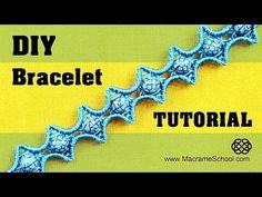 ▶ DIY Macramé Star Bracelet Tutorial ✦✦✦★✦✦✦ - YouTube