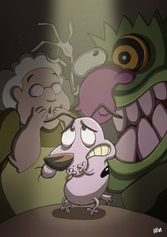 Courage the Cowardly Dog by Molassive on deviantART