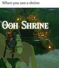 OOH SHRINE>>>then it turns into OMG THANK GOD I NEEDED ANOTHER SHRINE