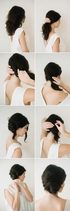 Messy Side French Twist Tutorial featured on Once Wed: Photography: Katie Hyatt for Laura Catherine Organic Photographs | Hair and Makeup: Claudia Mejerle | Model: Emily Cuppia | Top: Elizabeth Suzann