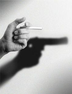 Une belle représentation de la cigarette qui tue                                                                                                                                                                                 Plus