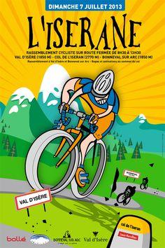 Cyclisme : l'Iserane 2013 à Bonneval sur Arc. Le dimanche 7 juillet 2013 à Bonneval sur Arc.