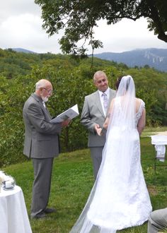 A garden ceremony with amazing countyside views. Metarie d'en Bor, Puivert, Ariége. Photograph by Cherry Thatcher