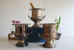vintage ice buckets/ urns  Wedding Prop Hire Melbourne