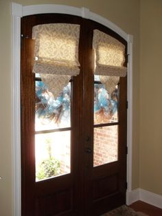 Need A Little Privacy For Your Door This Beautiful Arched Stained Door Is Covered With Our