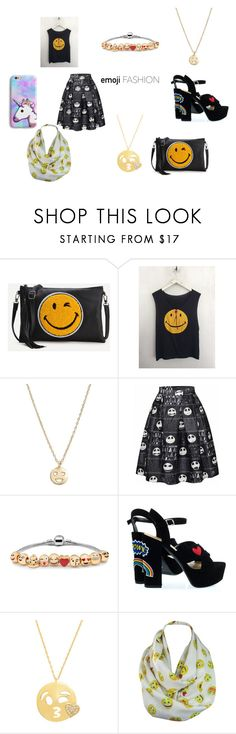 """Emoji Fashion Set- Polyvore Contest"" by thatonemockingjay on Polyvore featuring WithChic, Bing Bang, Alaroo, Amanda Rose Collection, contest and emojis"