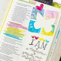 MASTERPIECE | Every time we seek God we have the opportunity to change.  To turn lies into truth. . I journal to take truth and put it into my own language.  That of visual art. . A new page in my journey through the @illustratedfaith You are Beautiful devo is up using scraps and @bellablvd heart enamels.  Pop over to { Illustratedfaith.com } and click inspired! . . #creatingforhim #illustratedfaith #illustratedfaithdaily2016 #journalingbible #biblejournalingcommunity #biblejournaling…