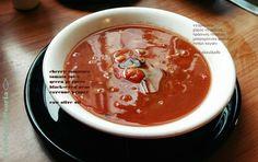 End-of-summer beauty... Tomato, green pepper and black-eyed peas soup <3  #vegetarian #vegan #dairyfree #glutenfree