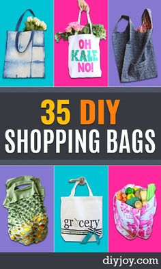 diy shopping bags - easy drawstring bag tutorial- How To Make A Shopping Bag - Use Fabric Scraps, Old Denim Jeans, Upcycled Items - Cute Monogrammed Ideas, Painted Bags and Sewing Tutorials for Beginners Crafts To Make And Sell, Easy Diy Crafts, Sell Diy, Decor Crafts, Drawstring Bag Tutorials, Drawstring Bags, Painted Bags, Simple Bags, Cool Diy Projects