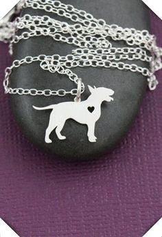 Mini Bull Terrier Pendant w/ Necklace
