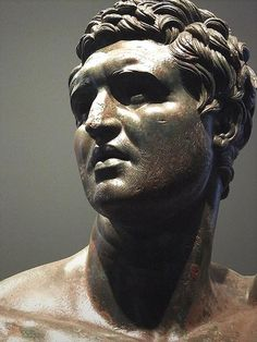 Statue of a prince or dynast without crown, traditionally thought to be a Seleucid prince, maybe Attalus II of Pergamon Bronze Greek Hellenistic era, 3rd-2nd centuries BCE,National Museum of Rome