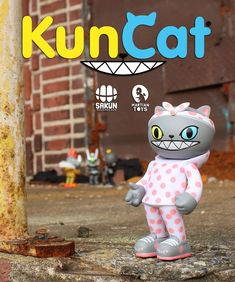 New from #MartianToys: Squad Scale Kuncat OG Polkadot edition by Sakun!!! #Artist #LimitedEdition #MartianToys #Sakun #SpankyStokes