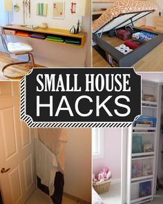 These small space hacks are sure to make life in your tiny home or apartment so much more enjoyable!