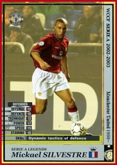 Intercontinental Club Legends card - Mickael Silvestre of Man Utd.