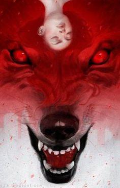 Little Red Riding Hood & Her Fierce Wolf… Art And Illustration, Der Steppenwolf, Wolf Hybrid, Red Ridding Hood, Wolf Spirit, Big Bad Wolf, Red Hood, Art Graphique, Art Plastique
