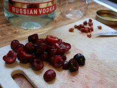 Cherry infused bourbon/vodka